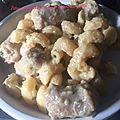 Pâtes, chipolatas et sa sauce artichauts ricotta