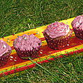 Cupcakes myrtille-framboise