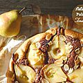 Tarte amandine aux poires et au nutella /tarte bourdaloue