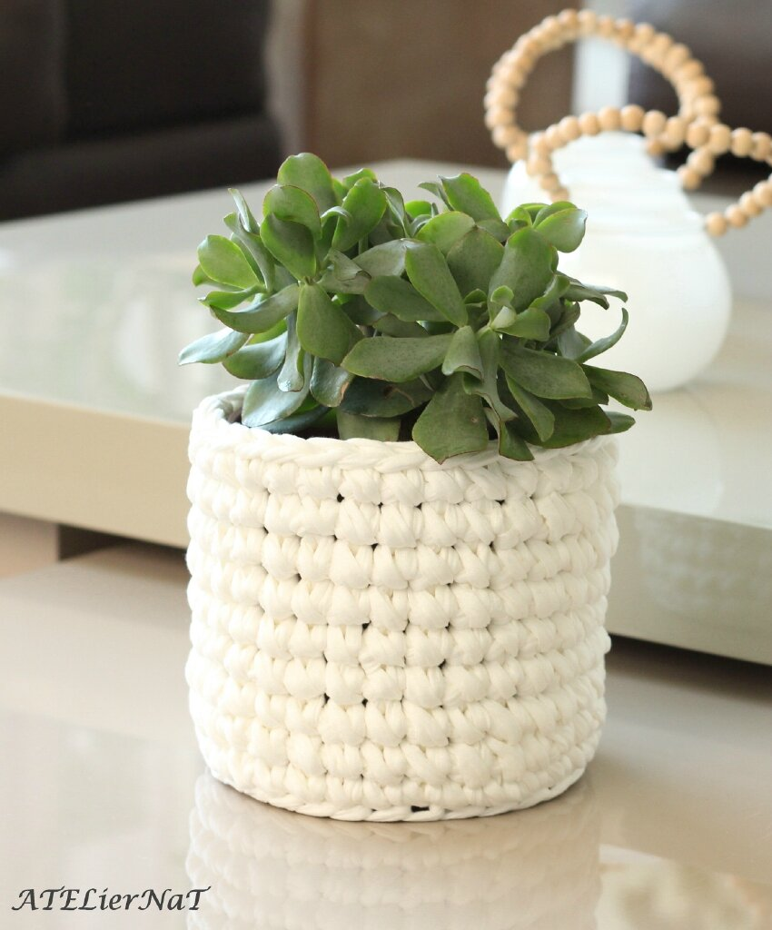 mes caches cache pot au crochet ajour ou pas rond ou carr ateliernat cr ations d co. Black Bedroom Furniture Sets. Home Design Ideas
