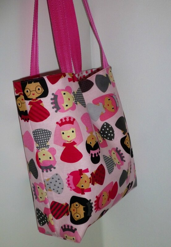 tote bag princesse PIKEBOU 2