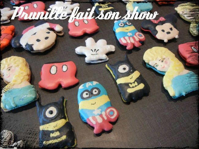 macarons fantaisies reine des neiges minion minnie prunillefee