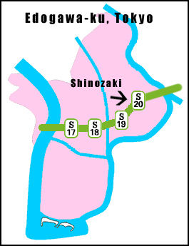 shinozaki_station_edogawa_ku_map