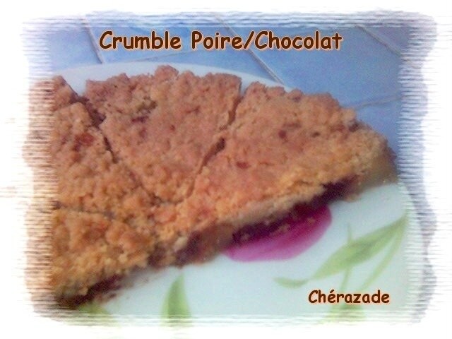 crumble poire chocolat