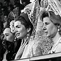 Jackie kennedy and cayetana duchess of alba in sevilla, 1966.