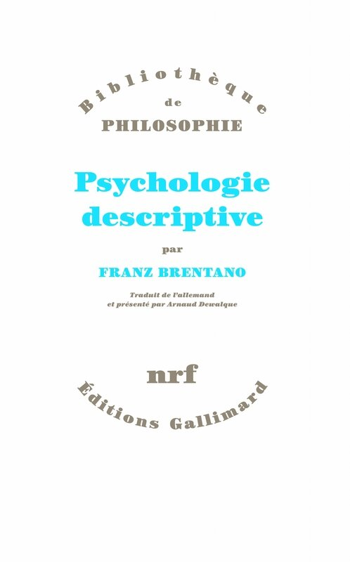 BRENTANO Franz, Psychologie descriptive, couv