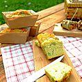 Cake au chou cabus, chèvre frais & amandes...ig bas