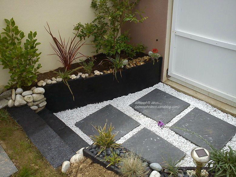 Une entr e plus sympa avec les moyens du bord atmosph 39 r d co - Deco jardin avec gravier blanc nice ...
