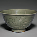 A small carved yaozhou bowl, northern song dynasty, 11th century
