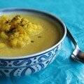 Soupe de choux fleur à l'indienne