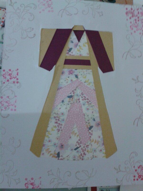 kimono iris folding grand modèle pour encadrement de Régine