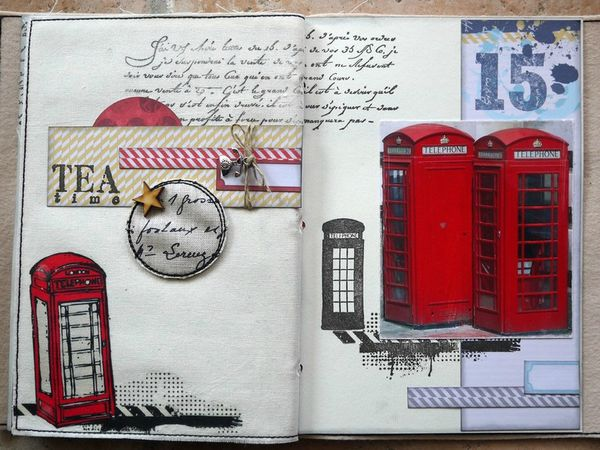 mini album Londres pages 10 et 11