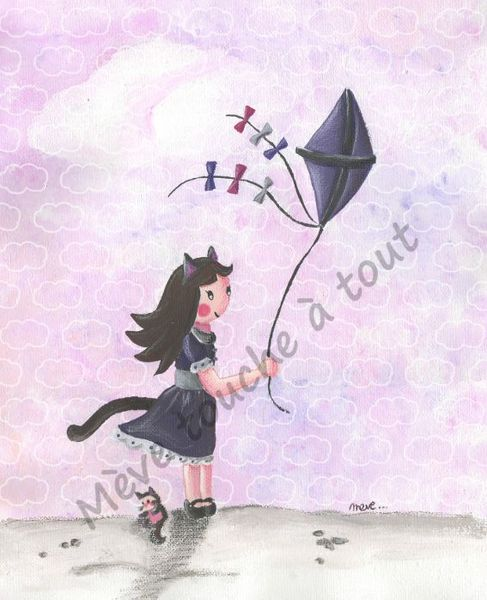 presentation-illustration-fille-chat-au-cerf-volant