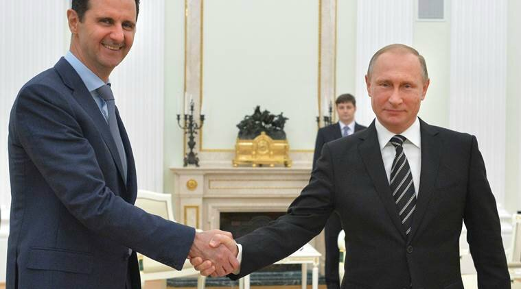 Bachar al Assad and Vladimir Putin