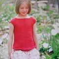 Ballet T-Shirt adorable !! j'adore ce travail de diminutions , et ces petites manches .