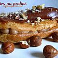 Eclairs au pralin, topping noisettes