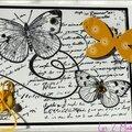 carte avec papillons