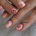 Nail art éponge et one stroke CrocOngle