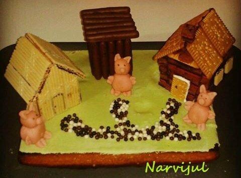 les 3 petits cochons - virginie cuisine pour narvijul