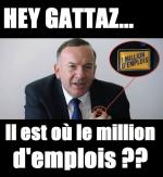 Gattaz 1 million d'emploi