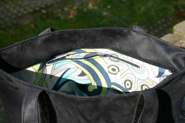 sac à paillettes noir 028
