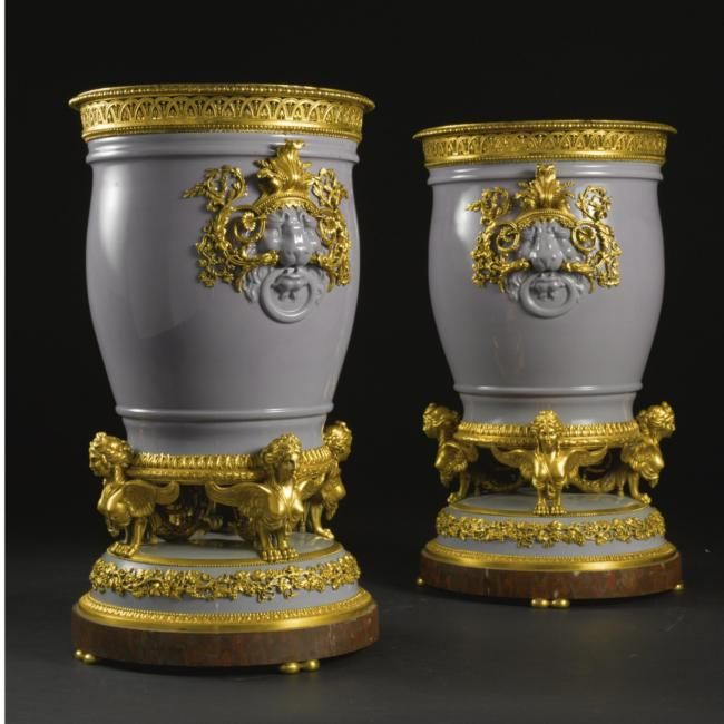A Fine Pair Of French Louis XVI Style Gilt-bronze Mounted
