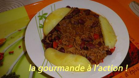Chili con carne avec pomme de terre la gourmande l 39 action - Marmiton chili con carne ...