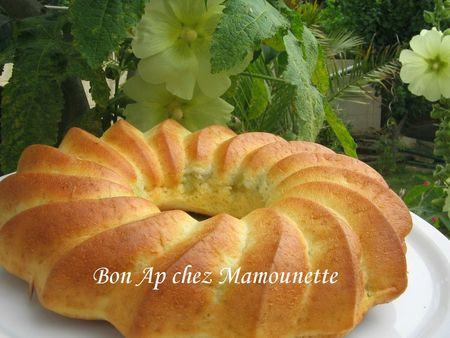 Gâteau moelleux fromagé à la rhubarbe du jardin 011
