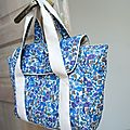 Mon sac in liberty gentiane
