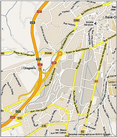 plan route de Langonand