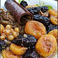 Tagine de pruneaux,raisin secs, et abricots secs sans sucre ajouté