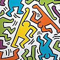 Haring 1982_Personnages multicolores 2