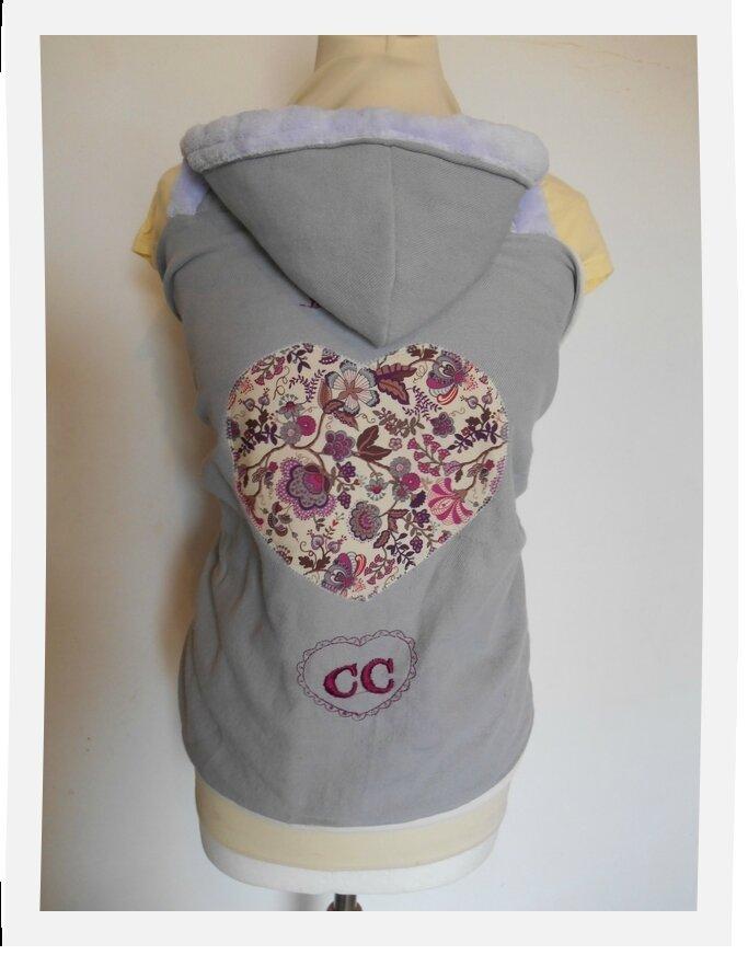 couverture de portage HECTOR coeur mabelle rose