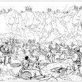 Le défilé de la hache. Les mercenaires révoltés d'Hamilcar sont coincés dans une gorge de montagne et mourront de faim