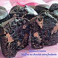 Muffins au chocolat extra fondants