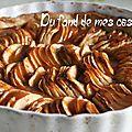 Tarte aux pommes nappée de caramel au beurre salé