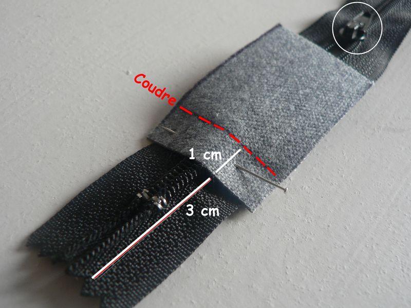 comment coudre une fermeture eclair sur un sac. Black Bedroom Furniture Sets. Home Design Ideas