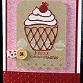 46. blanc, rose, rouge et kraft - cupcake