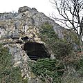 [drôme] autour de la grotte de la dame, en hiver..