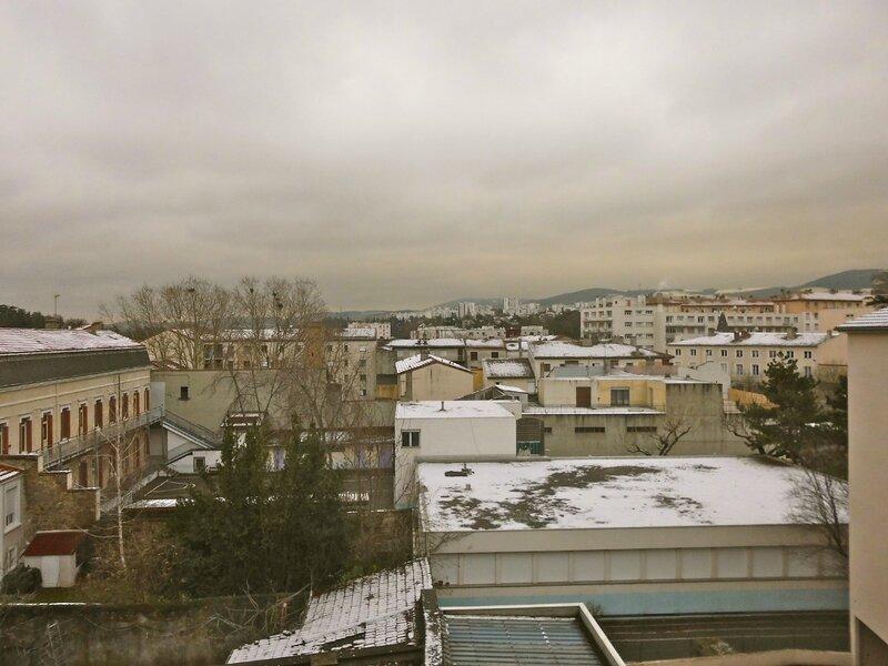 28 déc 2014 première neige à Saint-Chamond