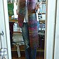 J'ai aussi tricoté du long ...