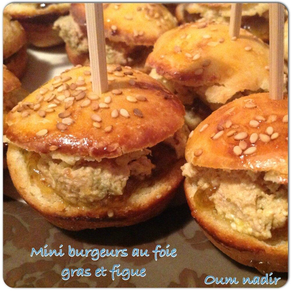Mini burgeurs au foie gras et figue