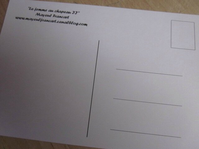 Carte postale - La Femme au Chapeau (2)