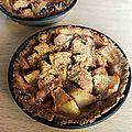 Tarte et tartelettes aux pommes et sirop d'érable
