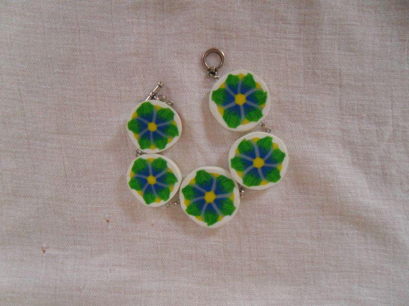 fleur verte dégradé bleu