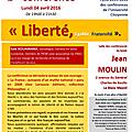 Forum, arts,culture des citoyens : deuxième conférence le 4 avril 2016, au lycée jean moulin.