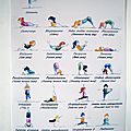 affiche yoga papier photo - VENDUE