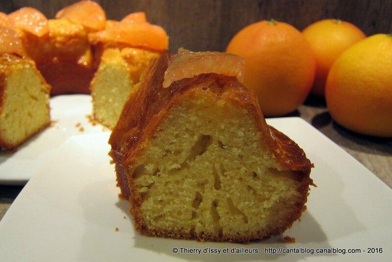 Gâteau acidulé au pamplemousse