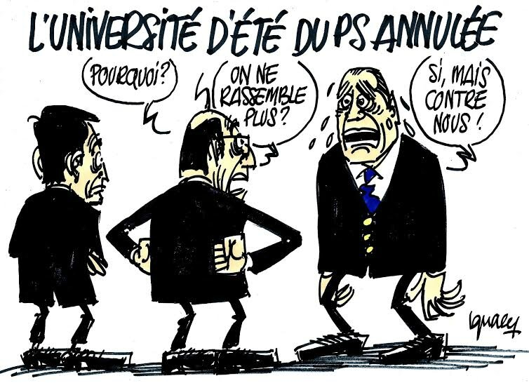 ps valls hollande humour universite