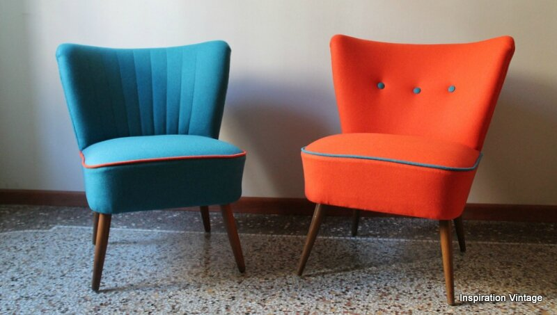 fauteuils cocktail orange bleu inspiration vintage. Black Bedroom Furniture Sets. Home Design Ideas